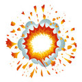 Explosion. Vector-Illustration Stock Photography