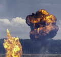 Explosions a controlled display of Royalty Free Stock Photo