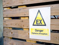 Explosive danger sign Royalty Free Stock Photo