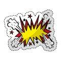 Explosive expresion comic pop art