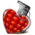 Explosive heart Royalty Free Stock Photography