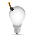 Explosive idea lightbulb concept illustration Stock Image
