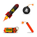 Explosive objects illustration format eps Stock Photos