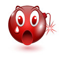 Explosive red smiley illustration vector Stock Photos