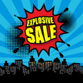 Explosive sale design color illustration Royalty Free Stock Photography