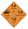 Explosive Warning Labels Royalty Free Stock Photo