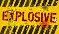 Explosive warning sign grungy industrial style Royalty Free Stock Photography