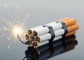 Explosives from cigarettes Royalty Free Stock Photo