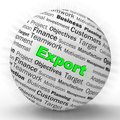 Export concept icon showing exportation of goods and products - 3d illustration Royalty Free Stock Photo