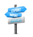 Export import business sign illustration design over a white background Royalty Free Stock Photography