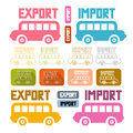 Export Import Icons Set Royalty Free Stock Images