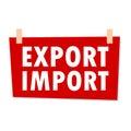 Export Import Sign - illustration