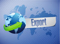 Export world map illustration design over a blue background Stock Image