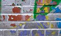Exposeв multicolored bricks texture exposed Royalty Free Stock Photography