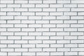 Exposed white vintage brick wall texture Royalty Free Stock Photo