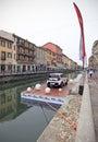 Exposição de kia soul fuorisalone no distrito do projeto de navigli Foto de Stock Royalty Free