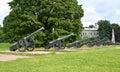 Exposition of artillery arms of the xviii century st petersbur petersburg Royalty Free Stock Photos