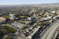 Exposition park aerial view of los angeles ca Stock Photo