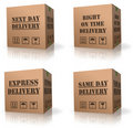 Expres delivery shipment cardboard box  shipping Stock Photo