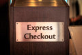 Express checkout Royalty Free Stock Photo
