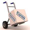 Express delivery on hand cart Stock Photography