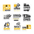 Express delivery set for label design. Delivery service vector Illustrations Royalty Free Stock Photo