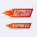 Express delivery symbols illustration on white Stock Photos