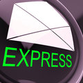 Express Envelope Means Fast And Priority Post Royalty Free Stock Images