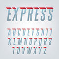 Express speed english alphabet.