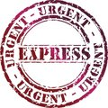 Express stamp Stock Photo