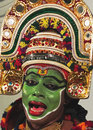 Expression of artist kathakali dancer in cochin in the kerala region southern india kathakali is a highly stylized classical Stock Photos