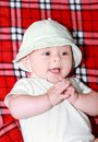 Expression of baby portrait outdoor during summer Royalty Free Stock Photography