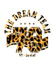 Expression: `the dream team` typography, tee shirt graphics