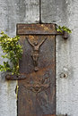 Expression of religiosity on belgian countryside belgium province namur stil life and closeup an image jesus christ and an angel Stock Images