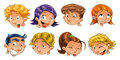 Expressions of children Royalty Free Stock Images