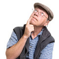 Expressive old man Stock Photo
