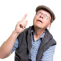 Expressive old man Stock Photos