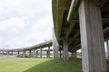 Expressway bridge daylight traffic transportation Stock Images