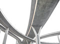 Expressway the curve of suspension bridge large elevated traffic highway Stock Image