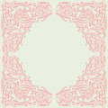 Exquisite frame doodle style ornamental design scroll Royalty Free Stock Photo