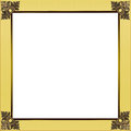 Exquisite gold and golden yellow picture or border frame Royalty Free Stock Photo