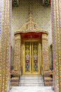 Exquisite golden door in wat ratchabophit bangkok Stock Images