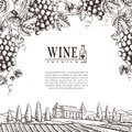 Exquisite winery poster design Royalty Free Stock Photo