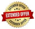 extended offer 3d gold badge
