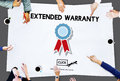 Extended Warranty Guaranteed Quality Safety Service Concept Royalty Free Stock Photo