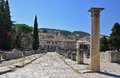 The extensive roman ruins at vaison la romaine provence france villasse these are these gallo remains are situated in Stock Image