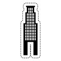 Exterior building isolated icon