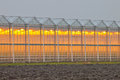 Exterior of a commercial greenhouse Royalty Free Stock Photo