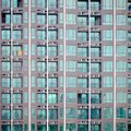 Exterior of condo building, During construction Royalty Free Stock Photo