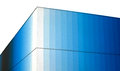 Exterior corner of modern blue glass building architectural detail with focus on with gradient colors Stock Photo